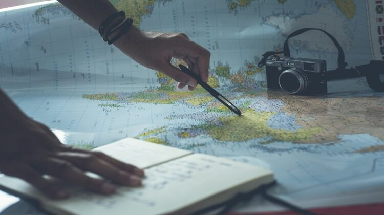 When Travels Become Long-Term Travel Map, Camera, Travel Journal