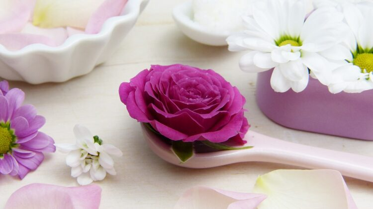 Best Self-Care Tips flowers and bath salts