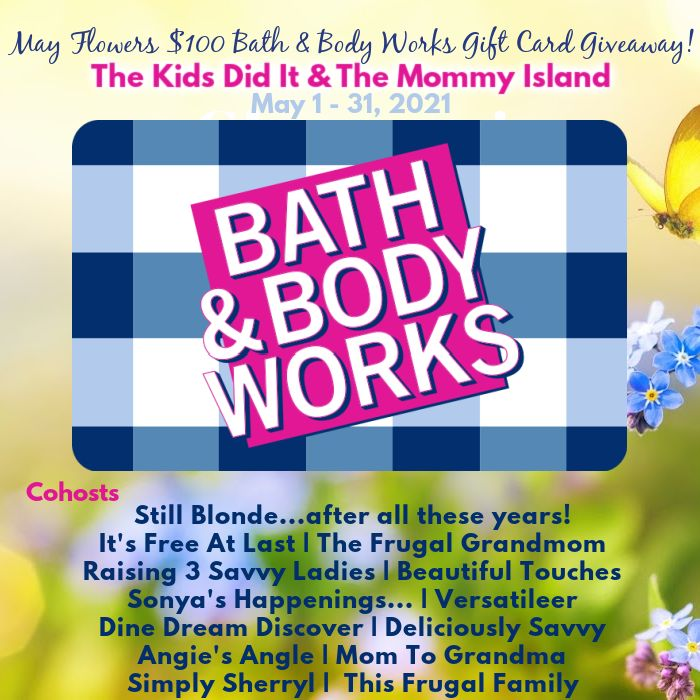 May $100 Bath & Body Works Gift Card Giveaway