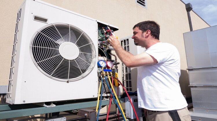 HVAC Technician working on Mini-split
