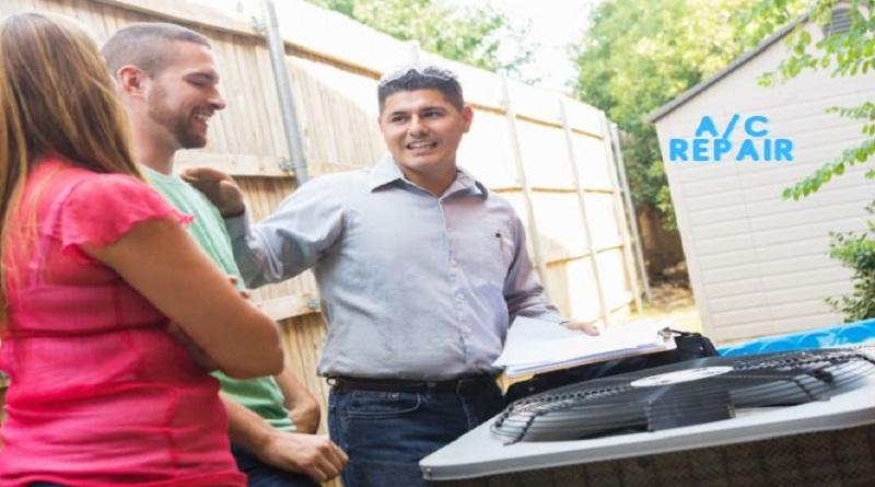 Lancaster OH AC Repair ac repairman with homeowners