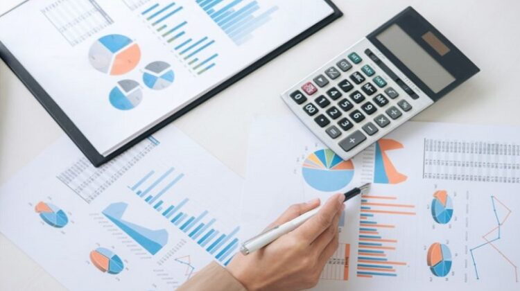 Small Business Finances charts calculator and pen