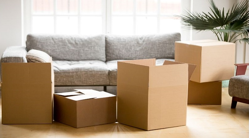 Using the Right Packaging Materials Cardboard packing boxes in living room