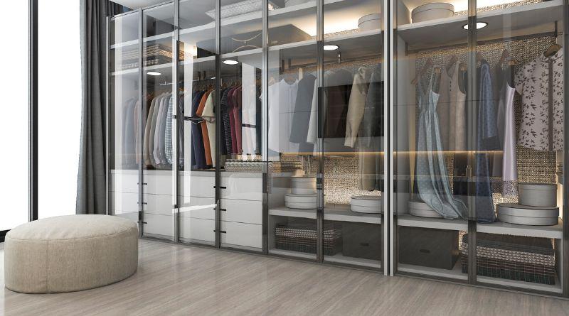 Glass Enclosed Custom Closet