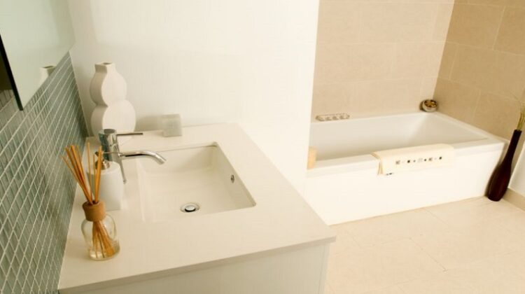 Neutral Bathroom with clean lines
