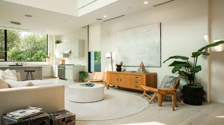 Interior Design Open living room and kitchen
