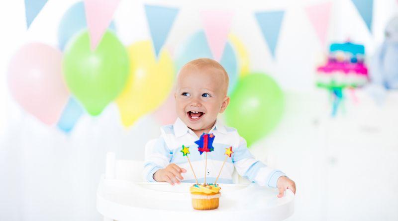Baby Boys first birthday Cupcake Birthday Party
