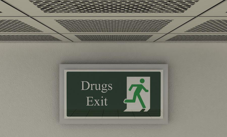 Meth Detox Drug Exit Sign
