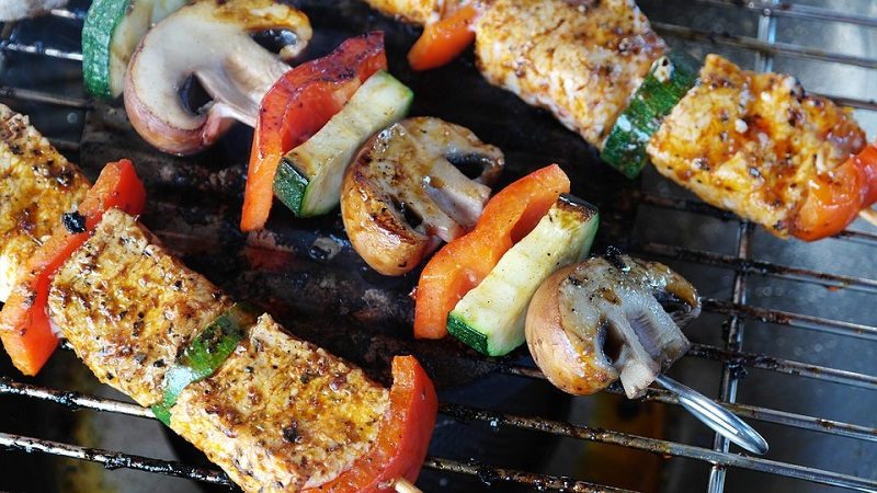 Meat on Skewers on Grill Building A Better Relationship With Your Garden