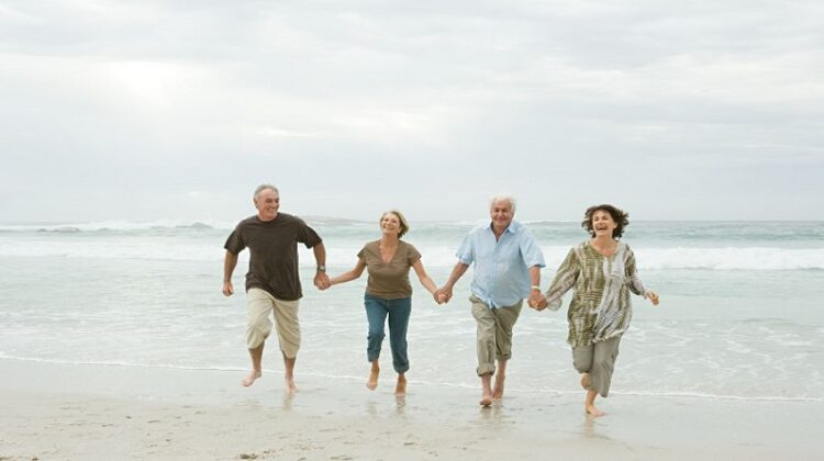 Be Prepared for Senior Life four senior adults running on the beach