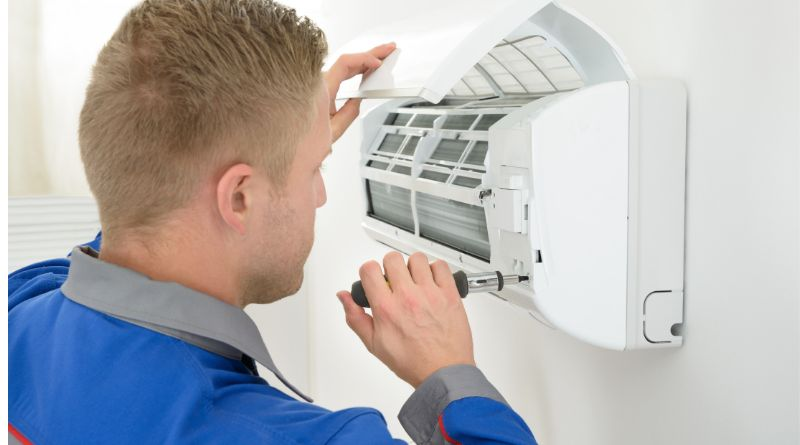 A/C Split being repaired Your Air Conditioner Needs Repair