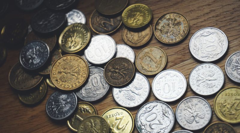 Coin Collection on table