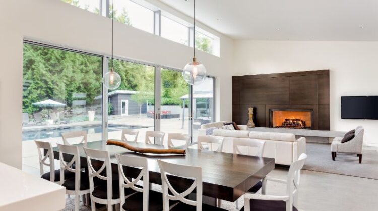 Renovating Your Property Large living dining room with wall of sliding glass doors
