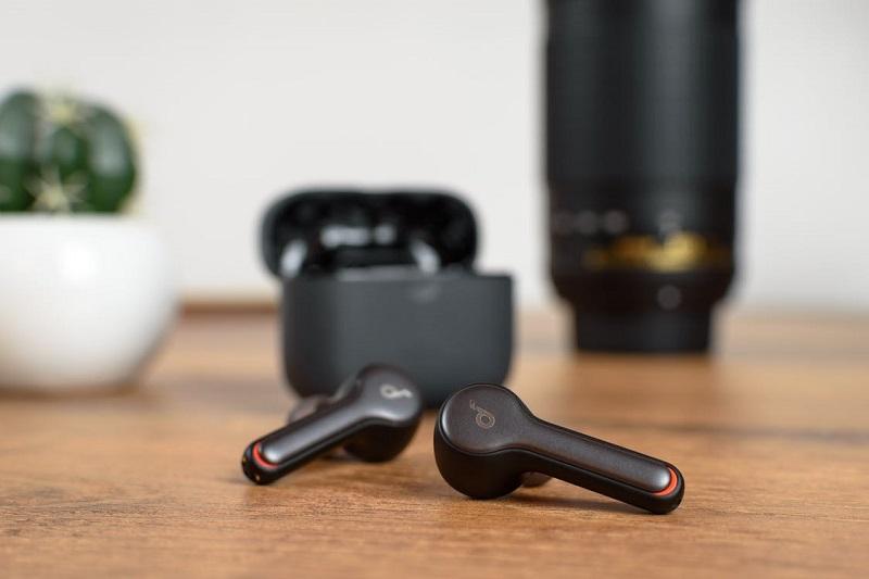 Pair of ear bud headphones