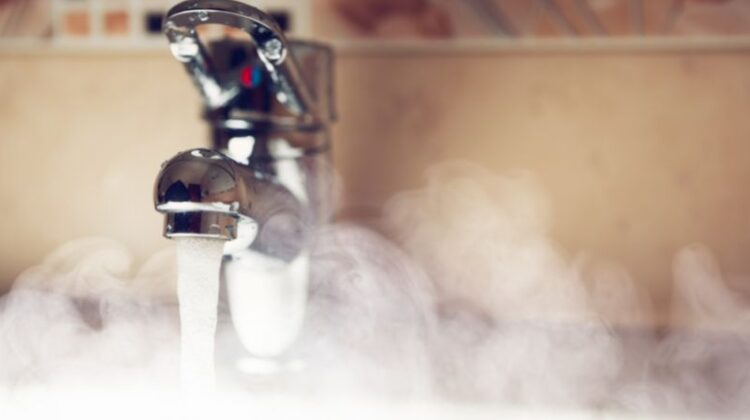 best hot water system Steam coming from hot water from water tap