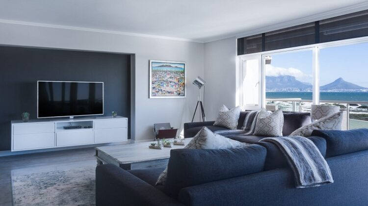 Add a Focal Point to Your Bland Living Room Large Minimal Living Room with Mountain Views