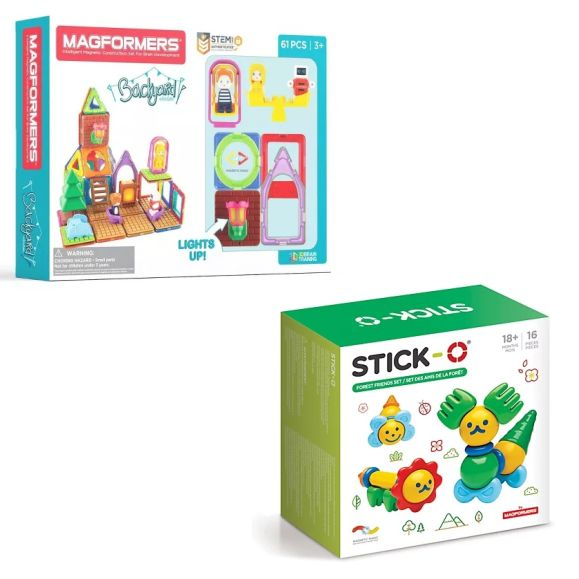 Magformers and Stick-O