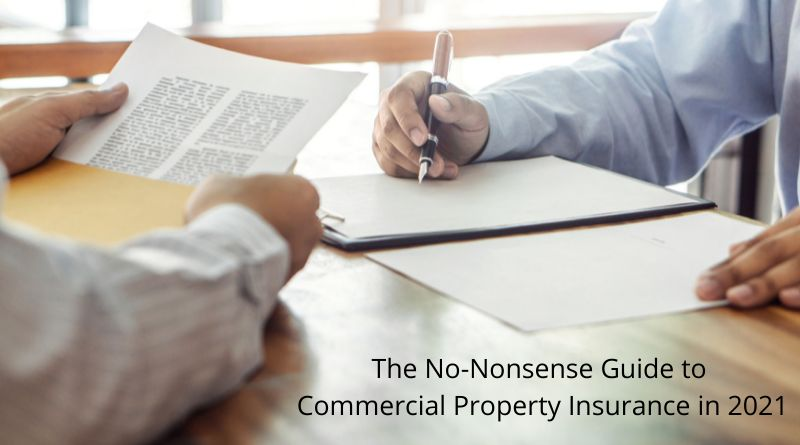 Commercial Property Insurance Men filling in paperwork