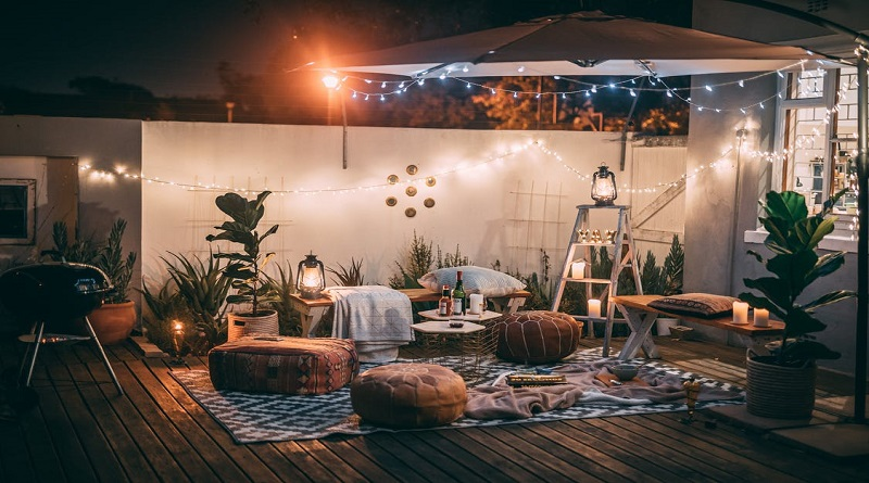Turn Your Living Space Around Lovely patio at night