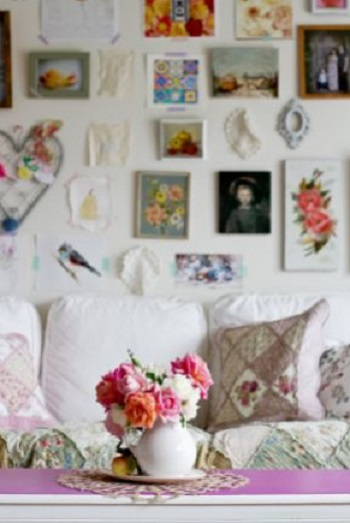 Make Your Home Look More Expensive Photos art and memorabilia on living room wall