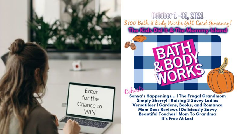 Bath and Body Works Giveaway Button