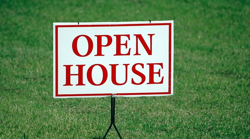 Increase The Value Of Your Home / Open House Sign on Green Grass