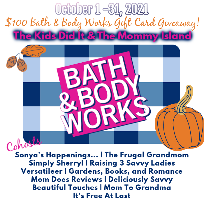 Bath and Body Works $100 Gift Card Giveaway Bath and Body Works GA Button